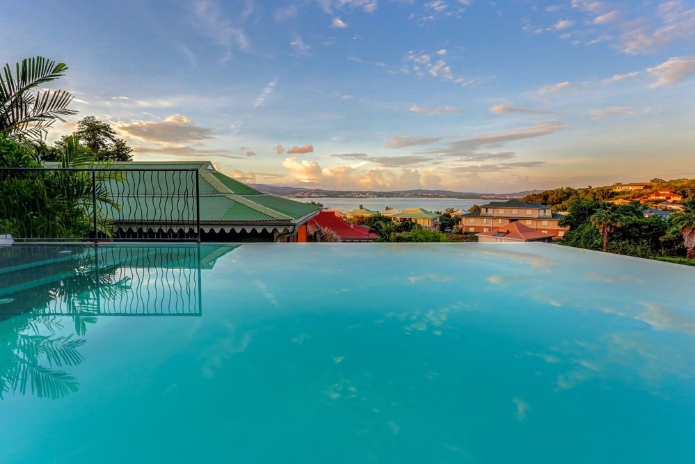 Boutique Hotel in Martinique with sea view on the Carribean